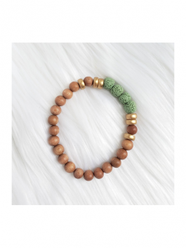 Mint Lava Stone Bead Bracelet