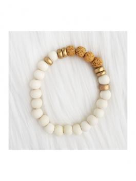 Mustard Lava Stone Bracelet
